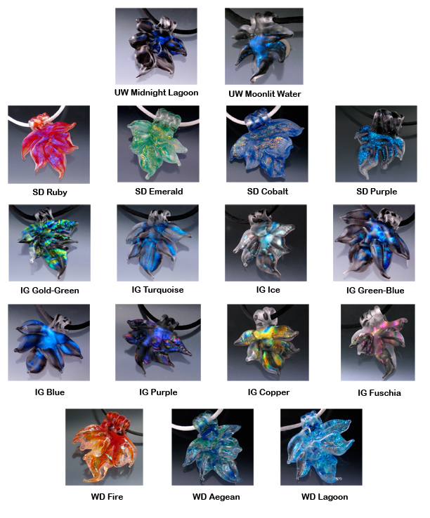 Frozen Flames Color Chart