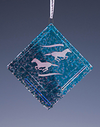 Running Horses Ornament